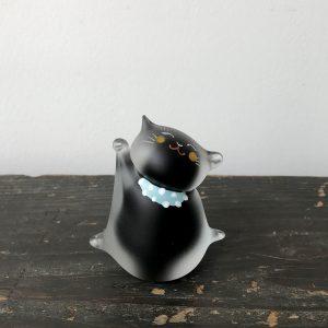 ガラスの招き猫(絵付け)